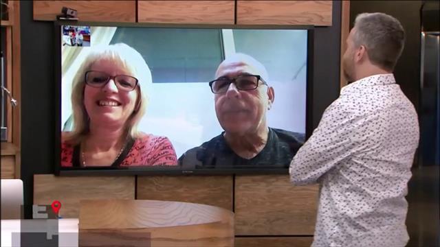 André discute avec les parents de Mariane St-Gelais