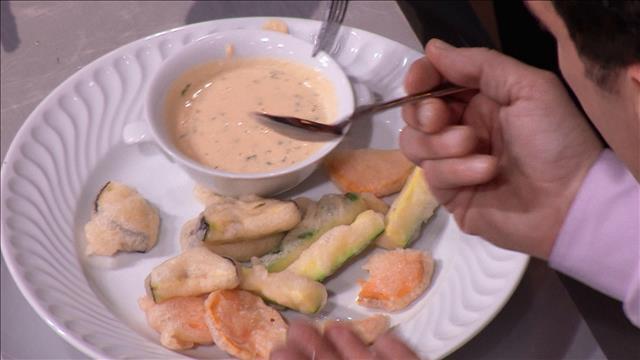 Réaliser un tempura de légumes, avec une sauce d'accompagnement