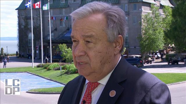 G7 : Antonio Guterres à la défense du multilatéralisme
