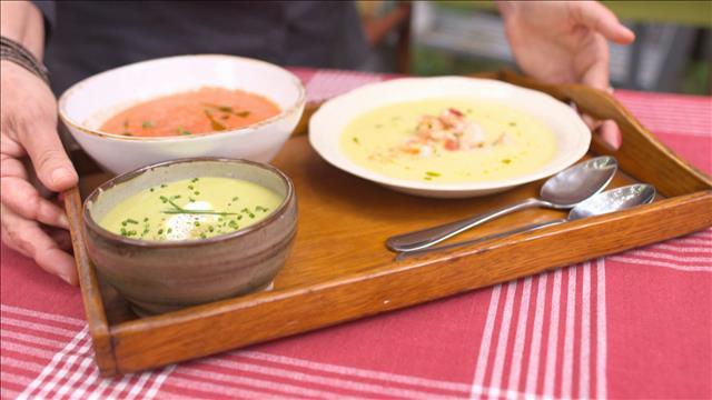 Rafraîchissantes soupes froides