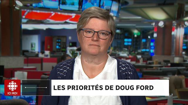 Les priorités de Doug Ford