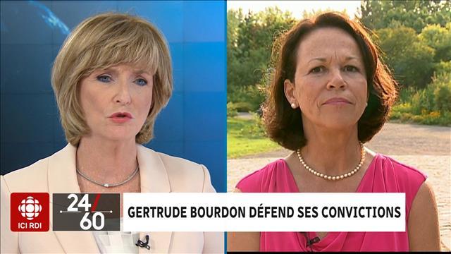 Gertrude Bourdon défend ses convictions