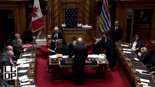 Le mystère plane à l'Assemblée législative de Colombie-Britannique