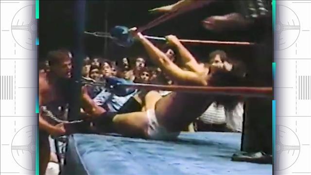 Un extrait de 1985 des Supers étoiles de la lutte