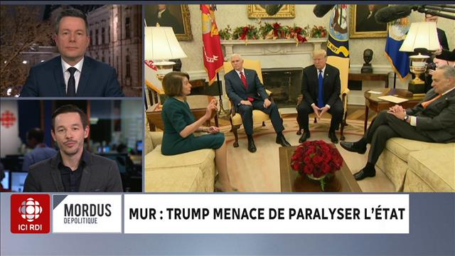 Mur : Trump menace de paralyser l'État