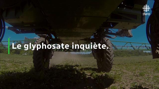 Le glyphosate inquiète