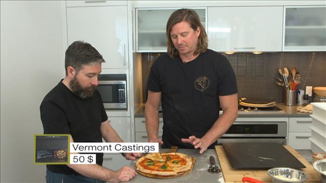 Un banc d'essai de pierres à pizza
