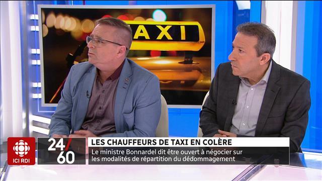 Les chauffeurs de taxi en colère