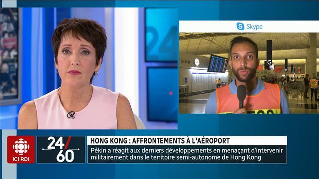 Honk Kong : affrontements à l'aéroport