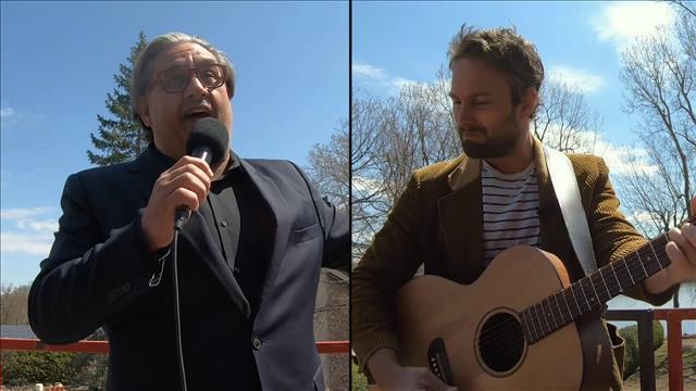 Antoine Gratton et Marc Hervieux chantent L'hymne à l'amour