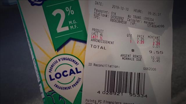 Augmentation du prix du lait