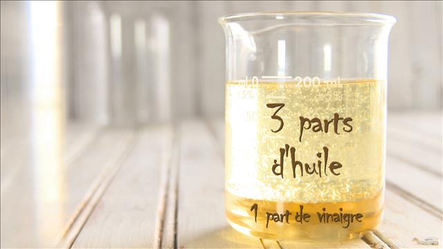 La chimie de la vinaigrette