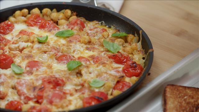 La poêlée de pois chiches à l'italienne, réconfort et rapidité pour un soir de semaine