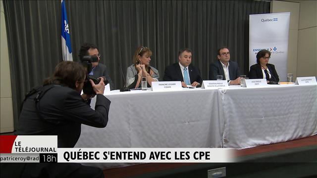 Québec s'entend avec les CPE