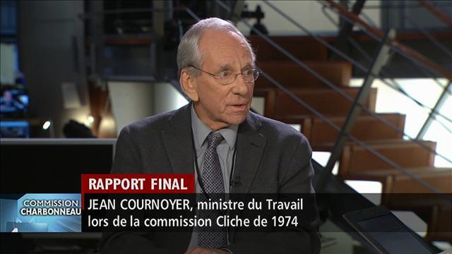 Rapport de la commission: des absents, selon Jean Cournoyer