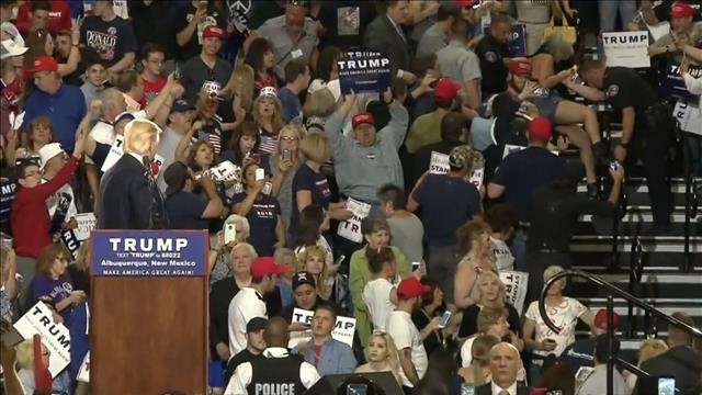 Un rassemblement de Donald Trump dégénère