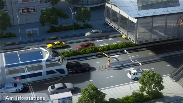 La Chine va tester un autobus qui enjambe la circulation