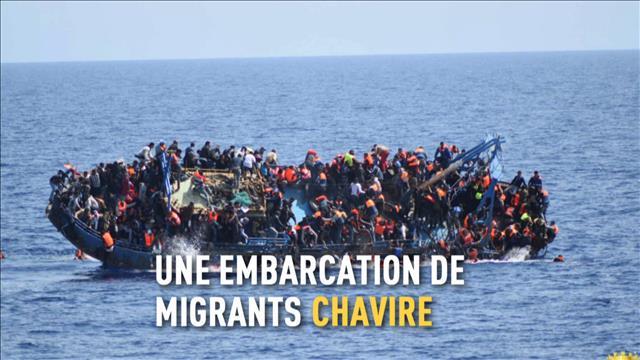 Un navire de migrants chavire en Méditerranée