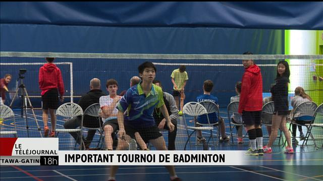 Gatineau accueille un important tournoi de badminton