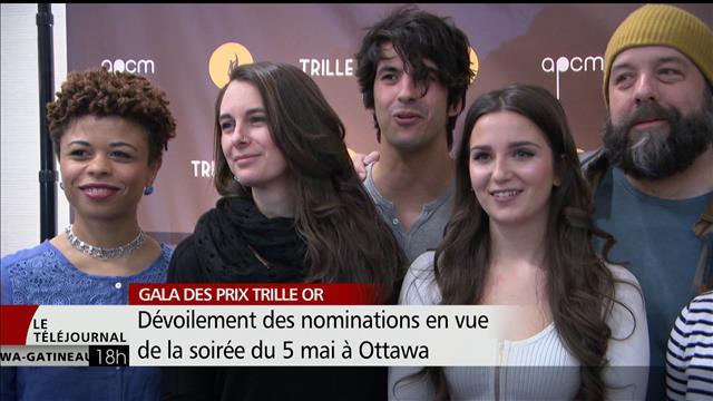Les nominations au prochain Gala des prix Trille Or