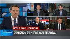 Le panel politique du 2 mai : Pierre Karl Péladeau quitte la vie politique