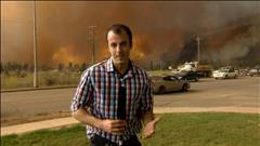 Un important feu de forêt atteint la ville de Fort McMurray