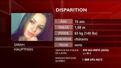 Entrevue avec les parents de Sarah Hauptman, 16 ans, portée disparue