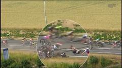 Tour de France: chute de nombreux coureurs