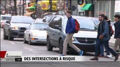 Des intersections à risque pour les piétons à Montréal