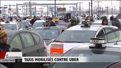 Les taxis mobilisés contre Uber