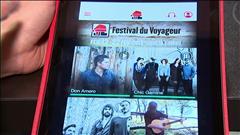 La version 2015 de l'application mobile du Festival du Voyageur