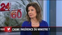 Démission du DG au CHUM : réaction de Diane Lamarre