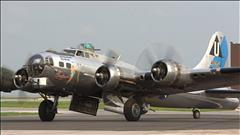 Le bombardier B-17 Flying Fortress au musée de l'aviation royale de l'Ouest canadien