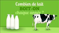 Combien de lait boit-on par année?