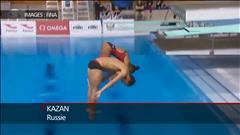 Abel et Imbeau-Dulac sur le podium en synchro à Kazan