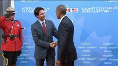 Arrivée de Barack Obama à Ottawa