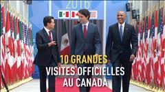 10 grandes visites officielles au Canada