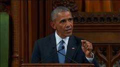 Émouvant discours d'Obama aux Communes