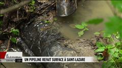 Un pipeline inquiète des citoyens de Saint-Lazare
