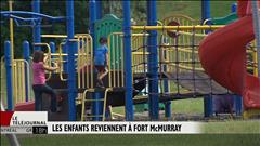 Les enfants reviennent à Fort McMurray