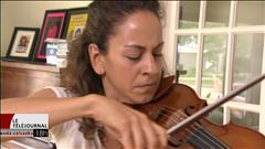 Andréa Tyniec, violoniste au Festival de musique de chambre de Regina