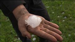 La grêle fait des dommages matériels à Saguenay