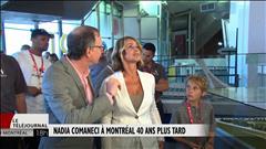 Nadia Comaneci de passage à Montréal