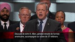 « Il nous faut être une force de l'unité en Amérique », dit le général à la retraite, John R. Allen