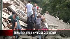Désespoir en Italie après le tremblement de terre
