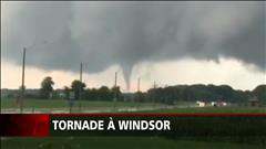 Une tornade cause des dégâts à Windsor en Ontario