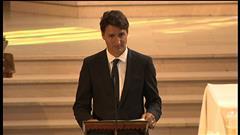 Discours de Justin Trudeau aux funérailles de Mauril Bélanger