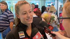 Les athlètes canadiens rentrent au pays