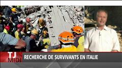Recherche de survivants en Italie