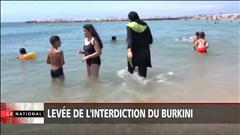 Levée de l'interdiction du burkini